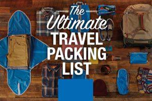 چک لیست های نیازهای نهایی سفر